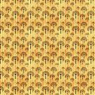 Black Trees Pattern on Vintage Yellowed Paper by pjwuebker