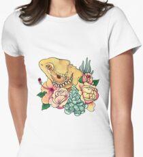 Dragon barbu pastel T-shirt col V femme