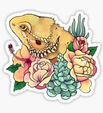 Pastellbärtiger Drache Sticker