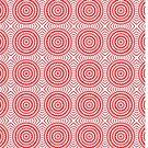 Bright Red Circle Pattern by pjwuebker