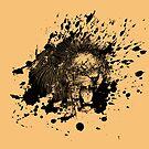 Roaring Lion in Black Splash by pjwuebker
