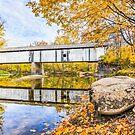 Covered Bridge Over Sugar Creek by Kenneth Keifer