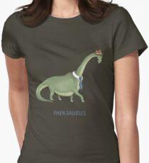 Papasaurus Womens Fitted T-Shirt