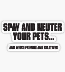 Spay and Neuter Sticker
