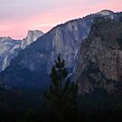 Bridalveil Falls and Half Dome at Sunset by HeavenOnEarth