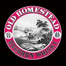 Old Homestead Bourbon Vintage label by pjwuebker