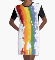 Pride Parade Rainbow Diversity by RD RIccoboni Graphic T-Shirt Dress