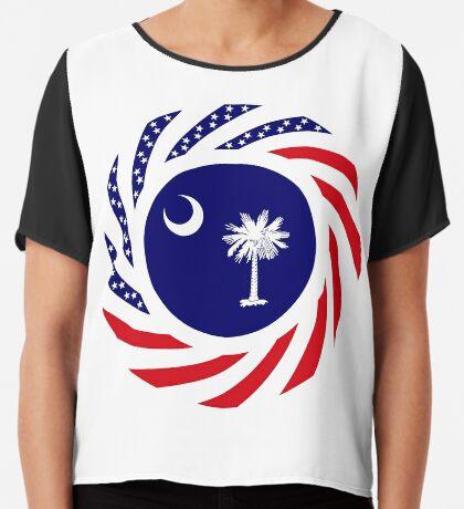 South Carolina Murican Patriot Flag Series Chiffon Top