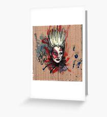 Jordan, Punk Icon Greeting Card