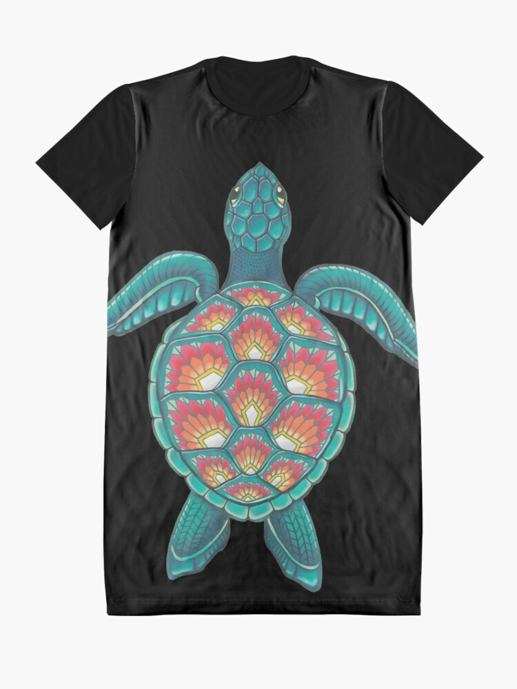 Alternate view of Mandala Turtle Graphic T-Shirt Dress