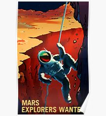 Mars Explorers Wanted Poster