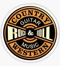 Country Western Rock&roll Sticker