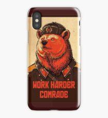 Work Harder Comrade iPhone Case/Skin