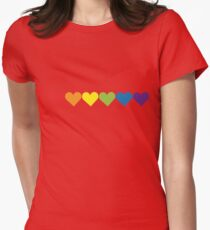 Pride Hearts Womens Fitted T-Shirt