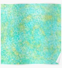 Green and Blue texture Poster