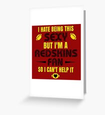 Redskins Fan Girl Quote Greeting Card