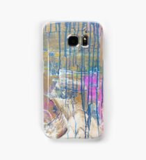 Blue Pink Yellow abstract Samsung Galaxy Case/Skin