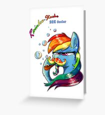 Rainbow - Stache 20% Cooler Greeting Card