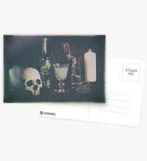 L'Absinthe C'est La Mort III Postcards