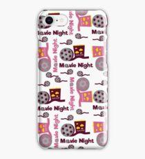 Retro movies night iPhone Case/Skin