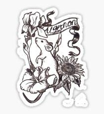 Flowers and Algernon Sticker