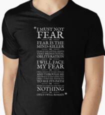 Litany Against Fear Men's V-Neck T-Shirt