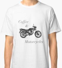 Café y motocicletas B & W Camiseta clásica