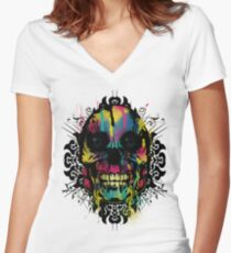 Better Colour Than Dead - Collaboration Women's Fitted V-Neck T-Shirt