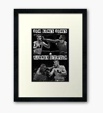 Jon Jones Vs Alexander Gustafsson Framed Print