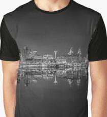 Liverpool skyline panorama at night Graphic T-Shirt