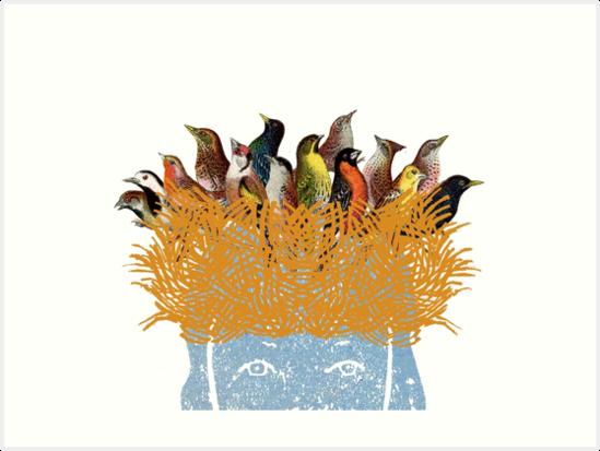 Bird nest head by SusanSanford