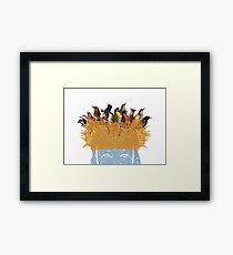 Bird nest head Framed Print