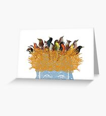 Bird nest head Greeting Card
