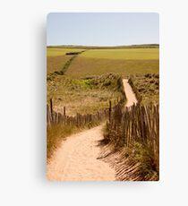 Beachside location in Devon Canvas Print