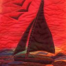 Red Sails in The Sunset by Carol Rowland