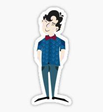 Bowtie Sherlock (No Background) Sticker