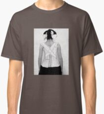 Mysterious Vintage Woman in Corset Classic T-Shirt