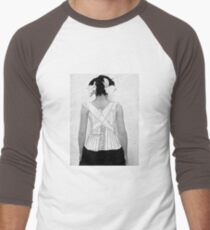 Mysterious Vintage Woman in Corset T-Shirt
