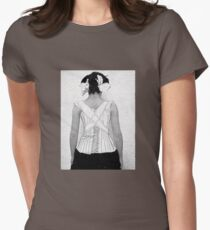 Mysterious Vintage Woman in Corset Womens Fitted T-Shirt