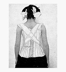 Mysterious Vintage Woman in Corset Photographic Print