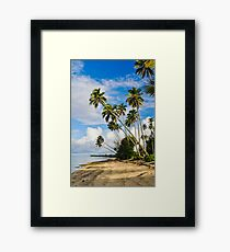 Palm Trees in Rarotonga, Cook Islands, South Pacific Framed Print