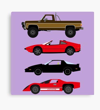 The Car's The Star: Glen A Larson Canvas Print