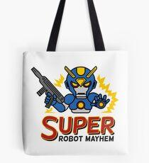 Super Robot Mayhem Blue-Auy Tote Bag