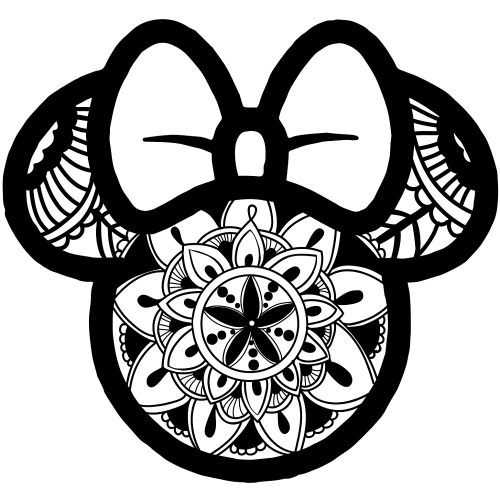 Quot Minnie Mouse Mandala Quot By Juicycreations Redbubble
