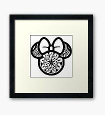 Minnie Mouse Mandala  Framed Print