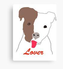 Pit Bull Lover Canvas Print