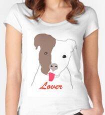 Pit Bull Lover Women's Fitted Scoop T-Shirt