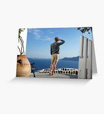 Greek paradise Greeting Card