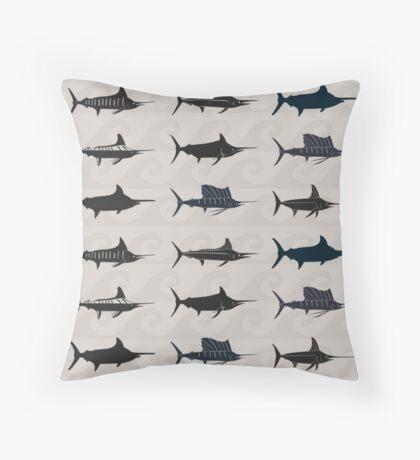 Marlin Billfish Print Throw Pillow Throw Pillow
