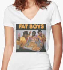 Fat Boys Women's Fitted V-Neck T-Shirt